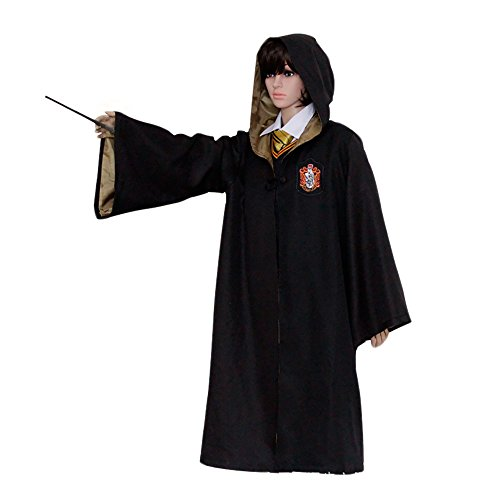 HP1 Adult Harry Potter Robe ALL 4 HOUSES XX2-XXL Halloween Costume USA (Large, Hufflepuff Yellow) (Hufflepuff Robes)
