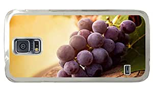 Hipster Samsung Galaxy S5 Cases leather purple grapes PC Transparent for Samsung S5