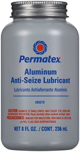 Permatex 80078 Anti-Seize Lubricant with Brush Top Bottle, 8 oz, Pack of 2