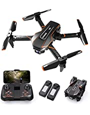 $45 » Q10 Mini Drones for Kids with Camera FPV Wifi 720P HD Remote Control Helicopter Toys Gifts for Boys Girls, Foldable RC Quadcopter with Wifi Live Video, Altitude Hold, Headless Mode, 3D Flips
