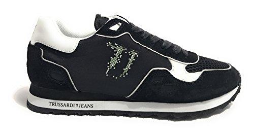 Ginnastica Jeans Uomo Mesh Scarpe da Trussardi Running Nero WHna4Fxxw