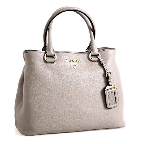 Prada Women's Gray Phenix Vitello Leather Cross Body Bag Handbag 1BA058 …