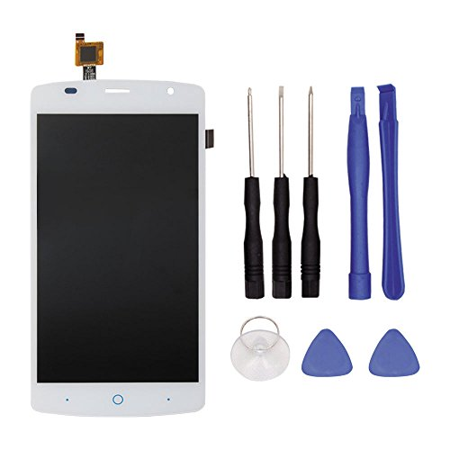 Price comparison product image LCD Touch Screen Digitizer, Full Assembly LCD Screen Broken Screen Replacement Parts with Small Kits for ZTE Blade L5 Plus (White)