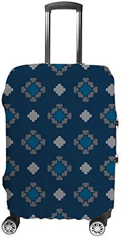 スーツケースカバー 花柄 正方形 幾何学 抽象的 伸縮素材 キャリーバッグ お荷物カバ 保護 傷や汚れから守る ジッパー 水洗える 旅行 出張 S/M/L/XLサイズ