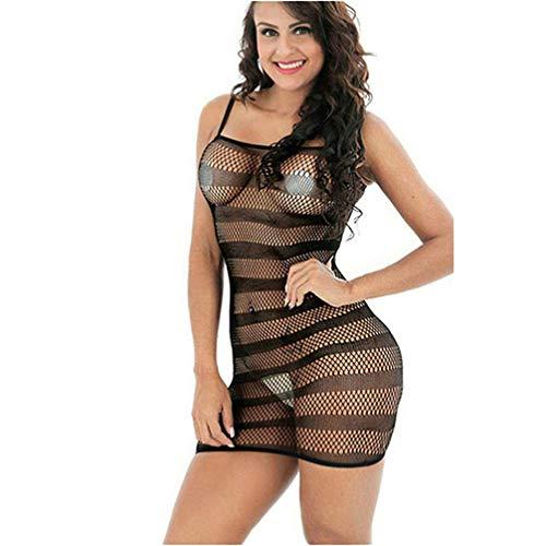 MMkiss Sexy Lingerie Women Fishnet Sheer Open Crotch Body Stocking Bodysuit Lingerie