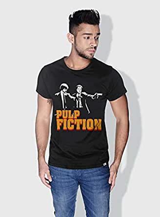Creo Pulp Fiction Movie Posters T-Shirts For Men - S, Black