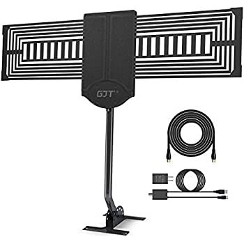 Amazon Com Gjt Outdoor Tv Antenna 150 Miles Range High