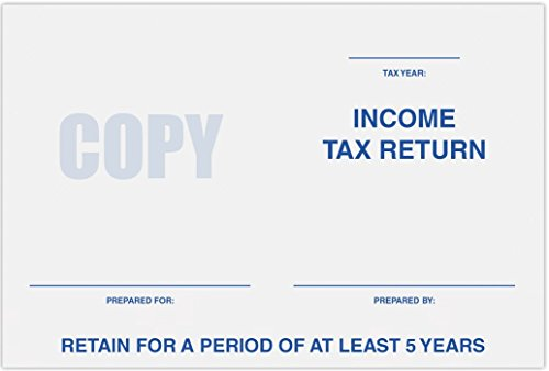 6 x 9 Tax Return Booklet Envelopes - 24lb. Bright White - Preprinted Income Tax Return and Retain For A Period Of At Least 5 Years (50 Qty.)   Perfect for this Tax Season   11874-TAX-50 by Envelopes.com