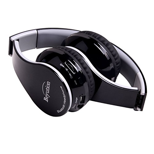New Beyution@ Black color smart Stereo Hi-Fi Wireless Bluetooth Headphone---for all Tablet MID, Smart Cell phone and all bluetooth device---With Retail Package, best gift!