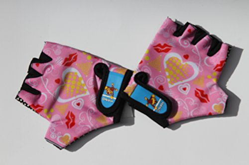 Monkey Bars Gloves With Grip Control (Hearts) For 5 and 6 Years old children by HANG