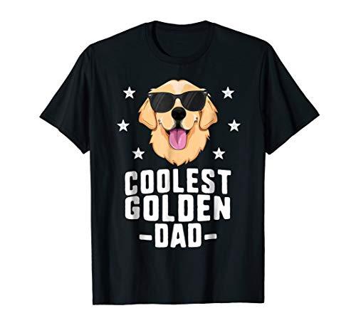 - Coolest Golden Dad T-Shirt for Men Retriever New Dog Owner