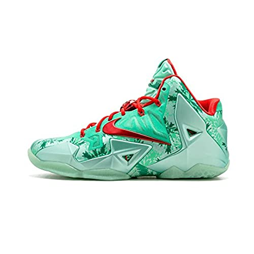 nike lebron james XI 11 CHRISTMAS GREEN GLOW mens hi top basketball  trainers 616175 301 sneakers shoes (uk 9.5 us 10.5 eu 44.5)