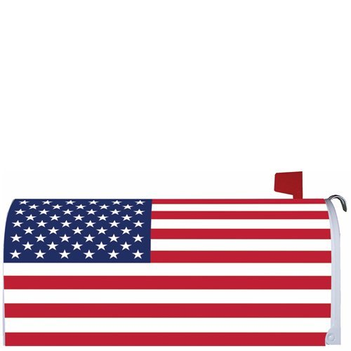 '' AMERICAN FLAG U.S.A.'' - Mailbox Makover Cover - Vinyl with Magnetic Strips