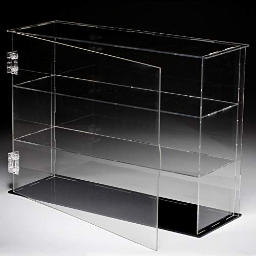 (Lanscoe Three Layers Clear Acrylic Display Case Countertop Box Cube Organizer Stand Dustproof Protection Showcase for Action Figures/Toys/Collectibles, 12.6x4x9.4 Inch (32x10x24 cm))