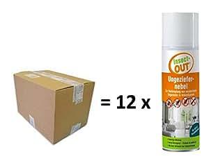 Set 1cartón con 12Insect de Out® parásitos Niebla 100ml–Efecto prolongado.