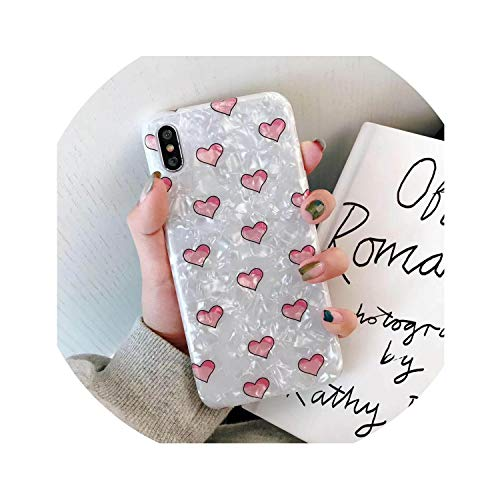 Glitter Phone Case for iPhone 6S Case Marble Shell Patterned Soft Cover for iPhone 8 Plus Cover Cute 7 8 Plus Xr Xs Max,Heart,for I7Plus I8Plus