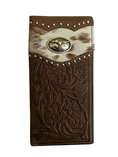 Western Cowhair Cowhide Bifold 10+ Credit Slots ID ()