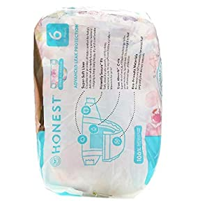 The Honest Company, Honest Diapers, Size 6, 35+ Pounds, Rose Blossom, 18 Diapers