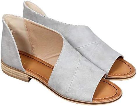 Huiyuzhi Womens Open Toe Flat Sandals