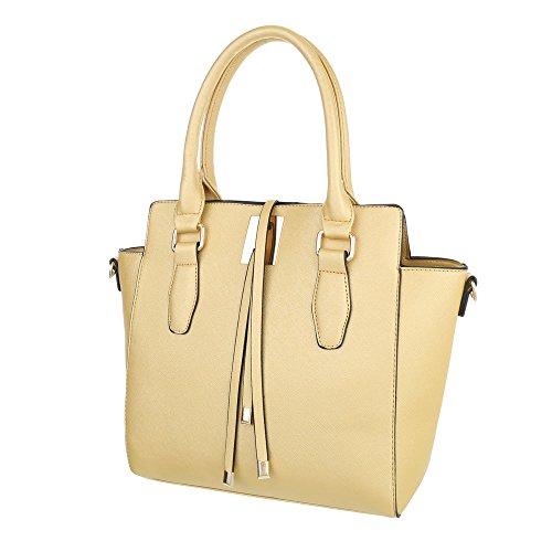 Schuhcity24 Taschen Handtasche Gold