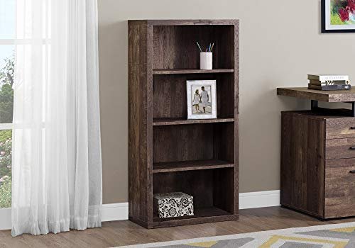 Monarch Specialties Bookcase - Sturdy Etagere with 3 Adjustable Book Shelves - 48