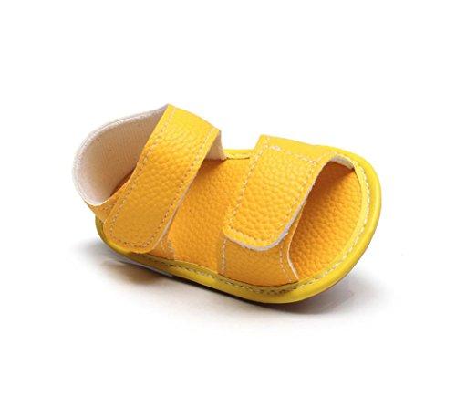 Huhu833 Baby Schuhe, Neugeborenes Baby Unisex Jungen Leder Camouflage Sandalen Sommer Weiche Flache Schuhe Gelb