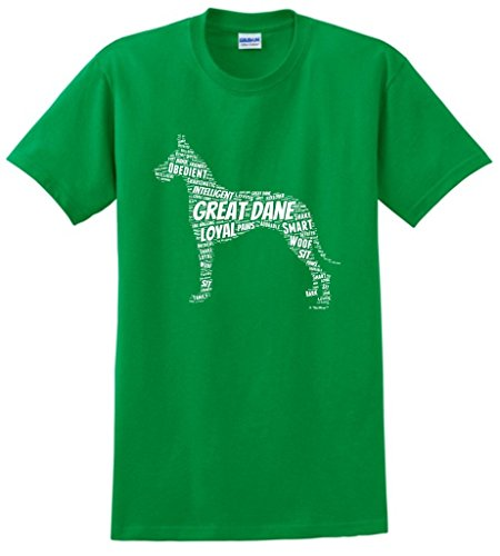 Dog Clothes Great Dane Word Art Dog Puppy Owner Gift T-Shirt Small Green