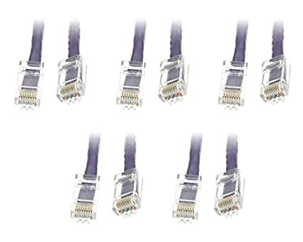 CNE480522 5 Pack Cat6 Snagless//Molded Boot Ethernet Patch Cable 14 Feet White