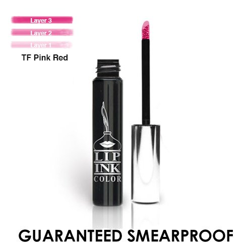 LIP INK Organic Vegan 100% Smearproof Liquid Lipstick,TF Pink Red