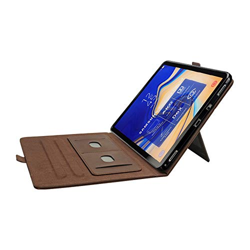 Samsung Tab S4 10.5 Cover, YiMiky Book Cover Case Protective Folio Case PU Leather Stand Cover with Card Slots Smart Cover Case for 2017 Samsung Galaxy Tab S4 10.5 T830/ T835 - Dark Brown