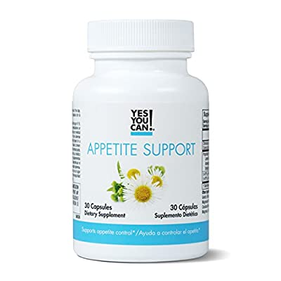 Yes You Can! Appetite Support - For Safe Weight Loss, Mood Enhancement and Stress Reduction. Contains: 5-HTP, Lemon Balm, Chamomile Extract, Chromium and Ashwagandha. Appetite Suppressant 30 Capsules