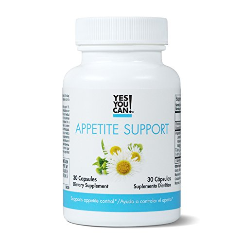 Yes You Can! Appetite Support - for Safe Weight Loss, Mood Enhancement and Stress Reduction. Contains: 5-HTP, Lemon Balm, Chamomile Extract - Appetite Suppressant - Adelgazar y Apetito - 30 Capsules