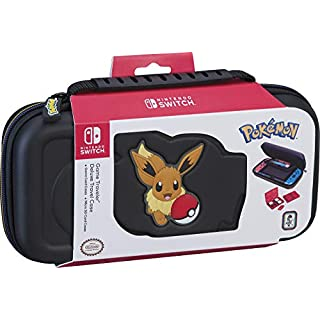 Officially Licensed Nintendo Switch Pokémon Carrying Case – Protective Deluxe Travel Case – Eevee Rubber Logo