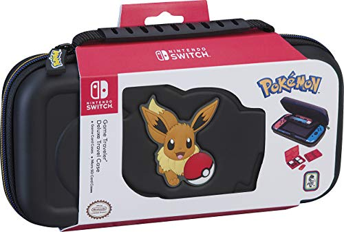Nintendo Switch Pokmon Carrying Case  Protective Deluxe Travel Case  Eevee Rubber Logo  Official Nintendo Licensed Product