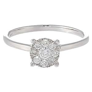 DEVRAHA Ladies 18K White Gold Diamond Ring
