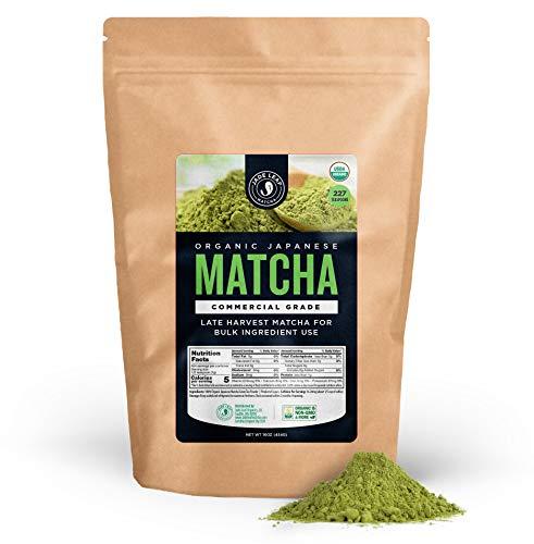 Jade Leaf - Organic Japanese Matcha Green Tea Powder, Commercial Grade - [1lb Bulk Size] ()