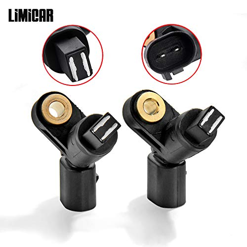 (LIMICAR 2PCS Front Left & Right ABS Wheel Speed Sensor ALS465 ALS470 ALS522 Compatible w/ 2000-2006 Audi TT 1998-2010 Volkswagen Beetle 1999-2006 Volkswagen Golf 1999-2005 Volkswagen)