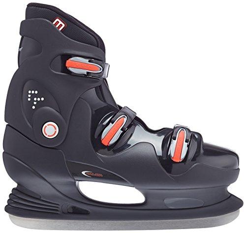 Nijdam Eishockeyschlittschuhe - Escarpines para mujer negro / rojo