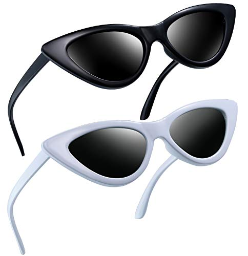 Joopin Vintage Polarized Cat Eye Sunglasses - Women Retro Cateye Sun Glasses Pointy Sunglasses E8908 -