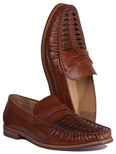 Reece À Chaussures Marron Ville Homme Pour Lacets Richard De Justin 1agAnpSS