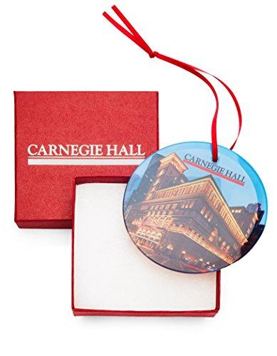 Carnegie Hall Glass Ornament - Exterior