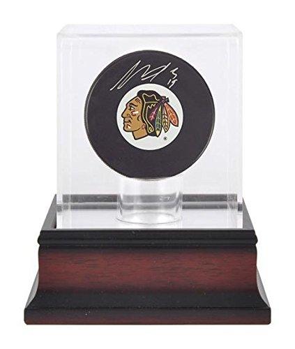 Sports Memorabilia Antique Mahogany Hockey Puck Display Case - Hockey Puck Display Cases No Logo