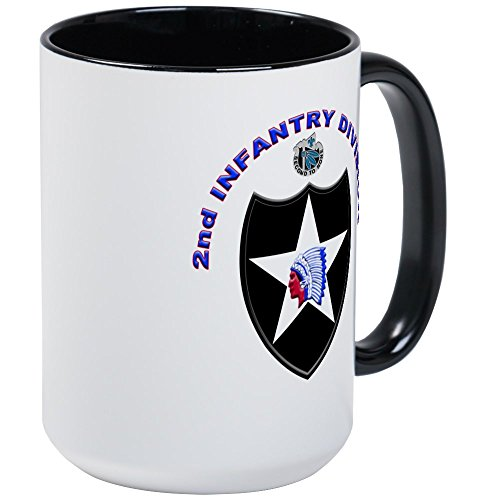 CafePress - US Army 2Nd Infantry Division Large Mug - Coffee Mug, Large 15 oz. White Coffee Cup