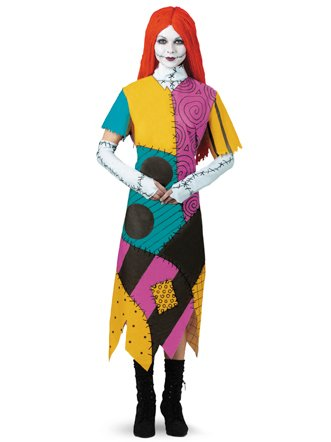 Disguise Women's Disney Nightmare Before Christmas Sally Classic Costume, Yellow/ Red/ Black/ Green, X-Large]()