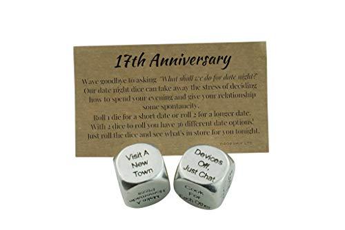 17 Year Anniversary Metal Date Night Dice - Create a Unique 17th Anniversary Date Night