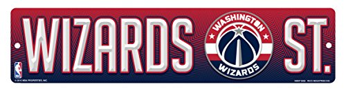 fan products of NBA Washington Wizards High-Res Plastic Street Sign