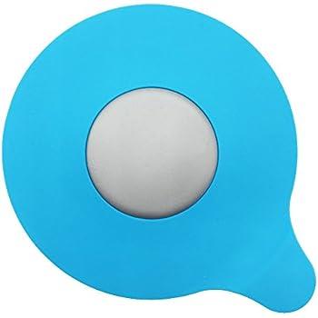 MIBOW Bathtub Drain Stopper Silicone Bath Tub Drain Stopper Plug Cover for Bathroom,Floor Drains and Kitchen, Blue