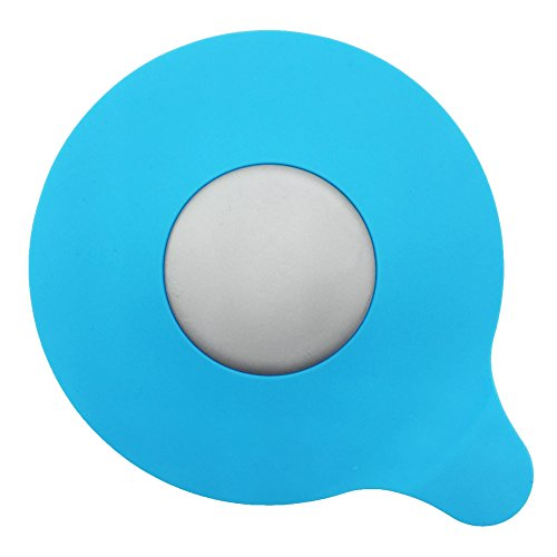 - MIBOW Bathtub Drain Stopper Silicone Bath Tub Drain Stopper Plug Cover for Bathroom,Floor Drains and Kitchen, Blue