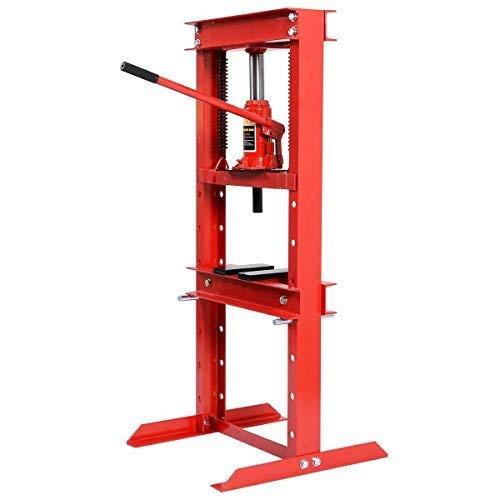 lic Floor Shop Press H-Frame w/Heavy Duty Steel Plates ()