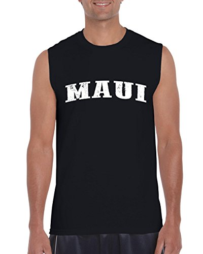 Ugo Maui Hawaii Travel Guide Flag What to do in Hawaii? Beaches Near Me Hawaiian Ultra Cotton Sleeveless Men's - Westgate Outlet Stores